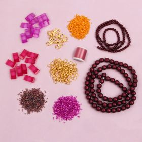 Beads Direct Bordeaux Carrier Duo Beads Jewellery Kit