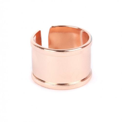 Rose Gold Plated Ring Base 68x15mm Space for Cord Diameter-65mm Pk1