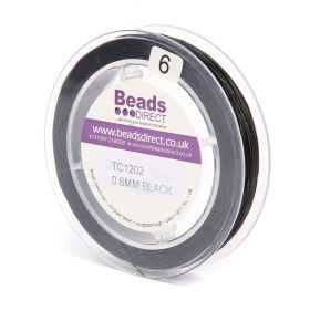 Black Elastic Stringing Cord 0.6mm 70metre Reel