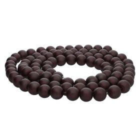 SeaStar™ satin / round / 6mm / chocolate / 150pcs