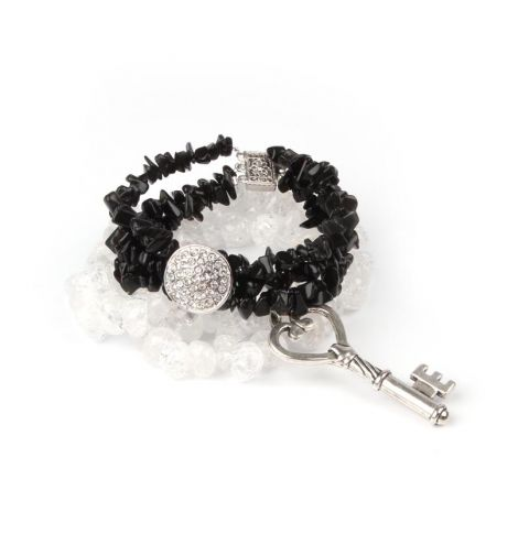 'Black Ice' Bracelet Stack