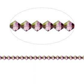 5328 Swarovski Crystal Bicone Xillion 3mm Crystal Lilac Shadow Pk24