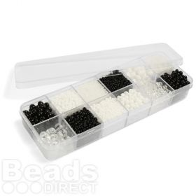 Preciosa Monochrome Medley Seed Bead Selection 12x11g Box Set