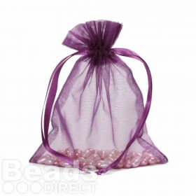 "Purple Organza Bag 5""x6.5"" Pack 5"