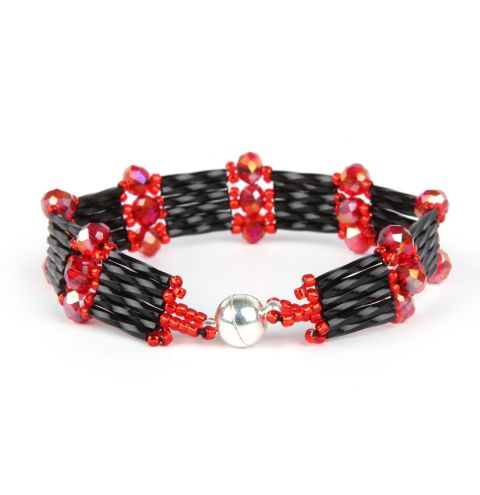 Fiery Night Crystal Step Bracelet
