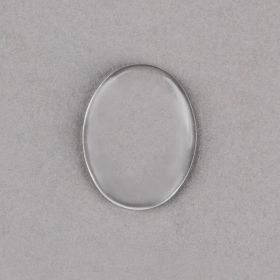 Clear Domed Glass Cabochon Flat Back 30x40mm Pk2