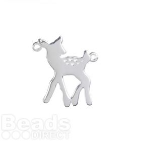 Sterling Silver 925 Bambi/Deer Connector Charm 18x20mm Pk1