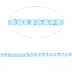 Preciosa Czech Fire Polished Beads 4mm Teal Pk100