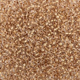 Preciosa Size 9 Rocaille Seed Beads Bronze Lined Clear 50g
