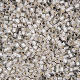 Toho Size 6 Round Seed Beads Silver-Lined Frosted Crystal 10g