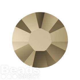 2078 Swarovski Crystal Hotfix Round 7mm SS34 Crystal Metallic Lt Gold A HF Pk144