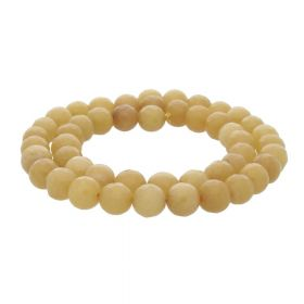 Agate / faceted round / 8mm / dark yellow / 45pcs