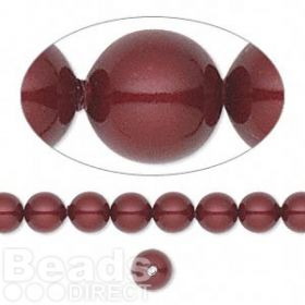 5810 Swarovski Glass Pearls 6mm Bordeaux Pk50