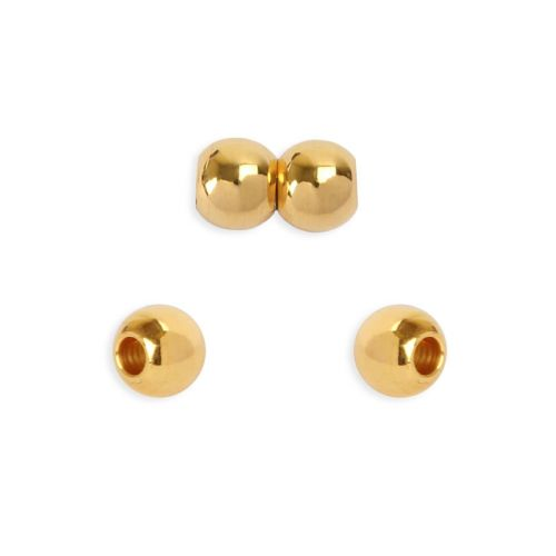 Gold Plated Round Brass 8x6mm Magnetic Clasp (Inner 3mm) Pk1