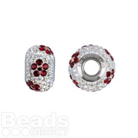 81743 Swarovski Crystal Poppy BeCharmed 14mm Rose Gold/Crystal Moonlight/Siam Pk1