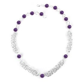 Beads Direct Chain Maille Starter Kit - Silver/Purple
