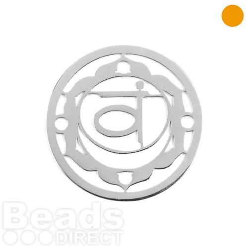 Sterling Silver 925 'Water' Chakra Connector 24mm Pk1