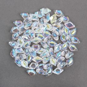 Crystal AB Matubo GemDuo Beads 5x8mm 10g
