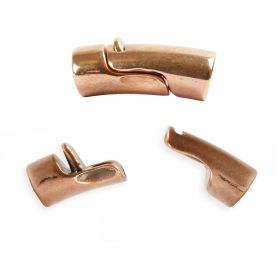 Rose Gold Plated Zamak Magnetic Clasp fits Regaliz Leather 25x13mm Pk1