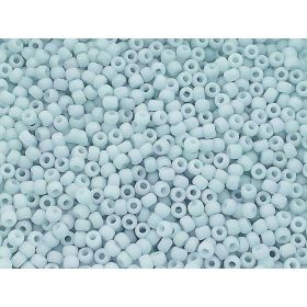 TOHO ™ / Round 11/0 / Opaque Pastel Frosted / Lt grey / 10g / ~ 1100pcs