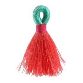Salmon/Mint/Fuchsia Loop Tassel 40mm Pk1