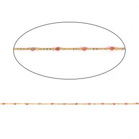 Sunstone Semi Precious Gold Plated Chain 2.5mm Pre Cut 1metre