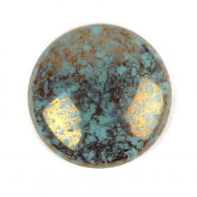 Par Puca Large Cabochon 25mm Opaque Aqua Bronze Pk1