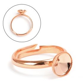 Rose Gold Plated Ring Base Holds 8mm(SS39) Rivoli Pk1
