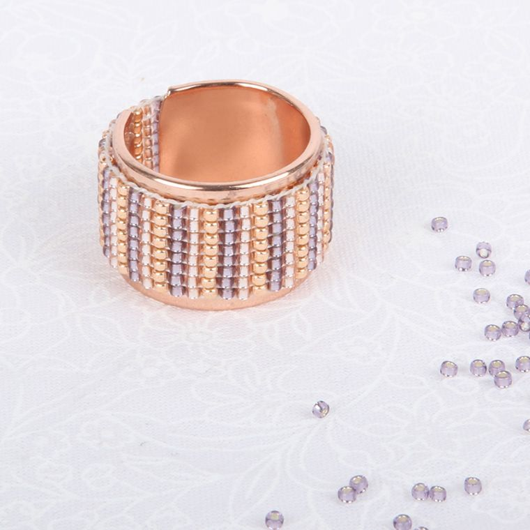 Shimmer Ring | Beaded Loom Jewellery