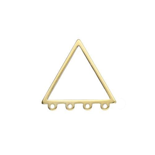 Triangle / geometric base / with 4 loops / surgical steel / 19x20x1mm / gold / 1pcs
