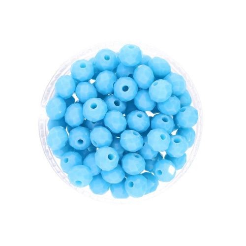 CrystaLove™ crystals / glass / rondelle / 6x8mm / blue / lustered / 72pcs