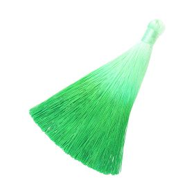 Tassel / viscose thread / ombre / wide braid / 100mm / width 10mm / green / 1pcs