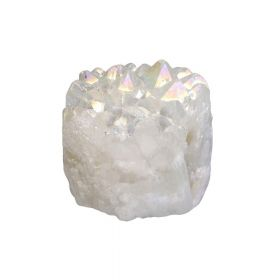 Druzy quartz / irregular bead / 11x11x7 / white / 1pcs
