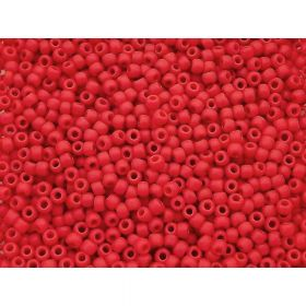 TOHO™ / Round 11/0 / Opaque Frosted / Cherry / 10g / ~ 1100pcs