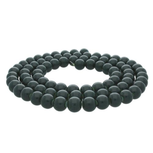 Coated beads / round / 10mm / military green / 85pcs