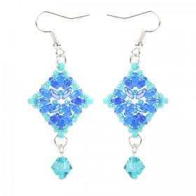 Blue and Silver Primrose Earrings Take a Make Break Kit - Makes x3