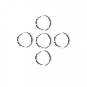 Sterling Silver 925 Soldered Rings 0.8x8mm Pk10