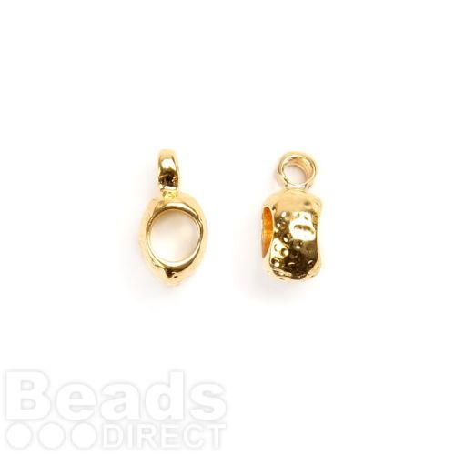 Small Gold Plated Charm Carrier 3mm Pk2