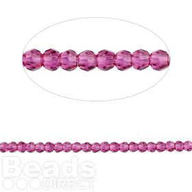 5000 Swarovski Crystal Faceted Rounds 2mm Fuchsia Pk24