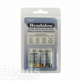 Beadalon Crimp Tube Variety Pack Size 2 Pk600