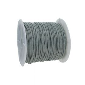 Waxed cord / grey / 2.0mm / 72m