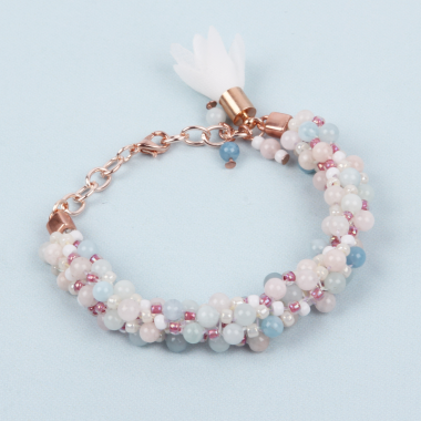 Morganite Bubble Bracelet