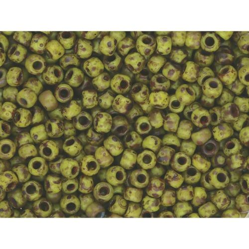 TOHO™ / Round 6/0 / HYBRID Frosted Opaque Picasso / Dandelion / 10g / ~ 160pcs
