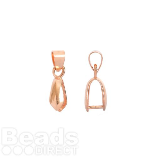 Rose gold plated pinch bail with loop for large pendant 5x11mm pk1 rose gold plated pinch bail with loop for large pendant 5x11mm pk1 aloadofball Image collections