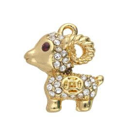 Glamm ™ Capricorn  / charm pendant / with zircons / 17x15x7mm / gold plated / 1pcs