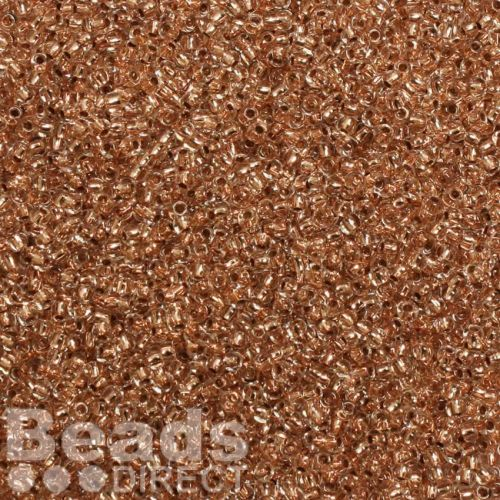 X-Toho Size 11 Round Seed Beads Copper-Lined Crystal 10g