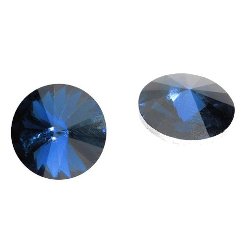 Bonny™ / crystal glass / rivoli / 16mm / Montana Blue / 6pcs