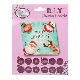 Beads Direct 'Christmas Characters' Crystal Card Kit