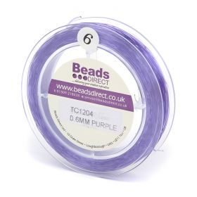 Purple Elastic Stringing Cord 0.6mm 70metre Reel