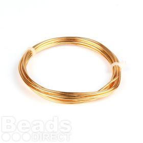 GILT Plated Copper Wire 1.5mm 1.75metre Coil